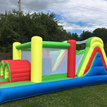 Inflatable Game Cama Elastic With Tunnel Climbing Wall Trampoline Obstacle Bounce House Inflatable Slide Bounce House Best Gift