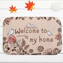 Manufacturers Wholesale Customized Romantic Text Welcome To My Home Rectangular Carpet Entrance Indoor Outdoor Floor Mats