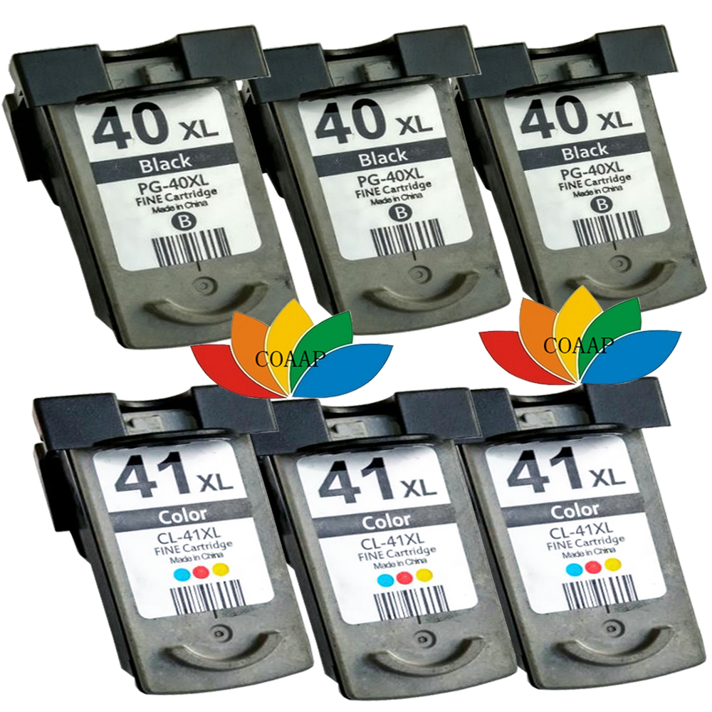 6pcs Ink cartridge PG40 CL41 compatible for iP1180 iP1200 iP1300 iP1600 iP1700 iP1800 iP1880 iP1980 iP2200 iP2500 iP2580 iP2600<br><br>Aliexpress