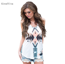 High Quality New Arrive Fashion Women's Summer Aztec Tank Tops Drop Shipping(China)
