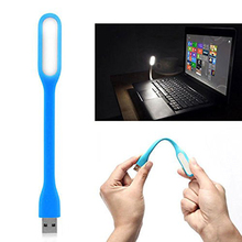 Mini Flexible LED Night lightin USB LED Night Light Desk Reading Lamp for Car Charger PC Mobile Power Charge Notebook Computer