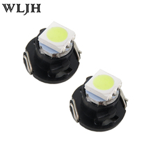 WLJH 10x T5 White T4.7 Neo Wedge 5050 SMD LED Bulb Dash A/C Climate Control Instrument Light for Dodge Ram