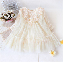 Retail! New 2017 brand newborn baby girls dress full of lace baby party dress infant babywear kids children baby clothing(China)