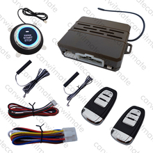 Rolling Code PKE Car Alarm System Passive Keyless Entry With Remote Start & Push Button Start Engine Suitable For DC12v Cars(China)