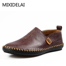 Men's 100% Genuine Leather Driving Casual Shoes, New Handmade Boat Shoes,Brand Design Flats Loafers For Men H8229(China)