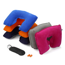 Inflatable U-Shape Travel Pillow for Airplane Neck Pillow Travel Accessories Comfortable Pillows for Sleep Home Textile(China)