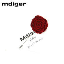 Mdiger Brand Fashion Flower Wedding Brooch Bouquet Men Suits Accessories Mens Brooches Pins Upscale Insert Lapel Pin Brooches(China)