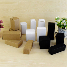 50pcs/lot 20sizes Brown/White/Black Kraft Paper Gift Box 10x8x6cm for Cosmetic Bottle/valves tubes Craft Candle Packing Boxes