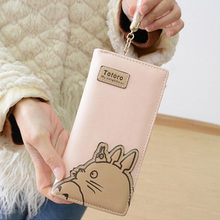 2017 Cartoon Totoro Wallet Anime My Neighbour PU Leather Clutch Zipper Long Purse Women Gifts Long wallet, short wallet