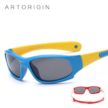 ARTORIGIN Kids Sunglasses Boys Girls Polarized Sun Glasses Rubber Flexible Children Goggles Safety Eyewear Approximately 1-5 Y(China)