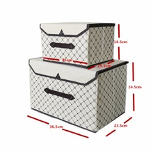 new Foldable Non-woven fabric storage box clothes organizer underwear socks bra books toys storage bins Cosmetics case 2 size(China)