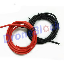 1meter Black + 1meter Red Silicon Wire Heatproof Soft Silicone Silica Gel Wire Cable 12AWG 13AWG 14AWG 16AWG 18AWG RC battery