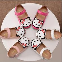 New Spring Children Girls Hello Kitty Shoes Girls Princess Sneakers Kids Casual Shoes For Girls Single Shoes Female