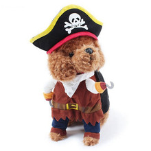 Funny Pet Suit Pirate Cat Costumes Halloween Small Dog Cats Clothes Corsair Puppy Dressing Up Party Clothes for Cat Suit