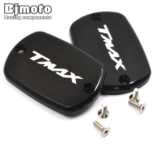 BJMOTO Pair Aluminum Motorcycle Bike Brake Fluid Tank Cap Cover For YAMAHA T-Max 500 TMax 530 Alloy 5 Colors Available
