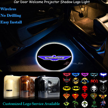2x Customized T-bird Logo Car Door Wireless Welcome Ghost Shadow Spotlight Laser Projector LED Light for Ford Thunderbird(China)