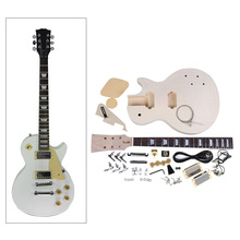 Hot Sale High Quality Electric Guitar DIY Kit Set Mahogany Body Rosewood Fingerboard Guitar Set for Guitar Lovers