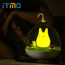 Micro Landscape LED Night Light Spiderwick Bird Cute USB Rechargeable Vibration Dimmer Touch Sensor Home Decors Atmosphere Lamp(China)