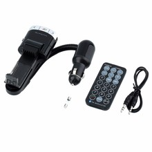 10Pcs/Lot Wireless FM Transmitter Smart Phone Holder Car Audio MP3 Music Player FM Modulator With Remote Control(China)