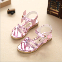 Children Sandals Girls Princess Shoes 2017 Summer Diamond Bow Fashion Baby Girls Shoes Kids Dance Performance Single Girl Sandal