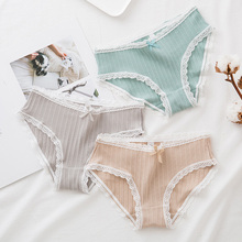 Buy 2018 Sexy Lace Women Underwear Solid Soft Low Waist Calcinha Lingerie Briefs Cute Simple Ladies Knickers Panties Underpants