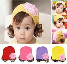 New Fashion Spring Autumn Winter Warm Flower Ear Wig Baby Cap Children Cartoon Flower Animal Cute Cotton Hat Brand Design
