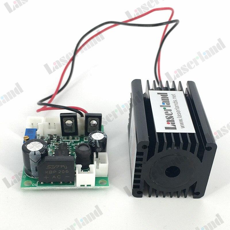 200mW 405nm Blue Violet Purple Laser Diode Module 12VDC TTL Stage Lighting<br>