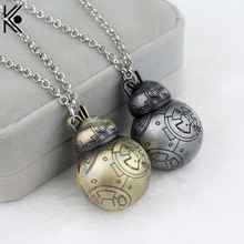 Star Wars BB-8 BB8 Necklace 3D Robot Cosplay Movie Metal Pendant Jewelry for Women and Men Christmas gift Star Wars  necklace