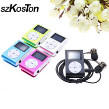 High quality MP3 music player + Metal stereo Earphone Kits Mini Clip mp3 Player with Micro TF/SD Slot(China)