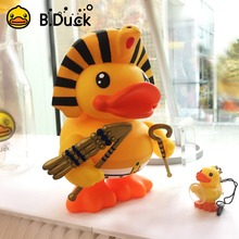 B.Duck Egypt Duck Money Saving Box Round-the-world Series Duck Figurine Manga PVC Vinyl Doll For Every Eag(China)