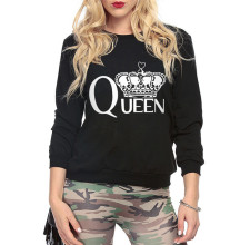 hip hop hoodies Women Men O Neck femme clothes King Queen hoody Imperial Crown King And Queen Funny Graphic Printing sweatshirt
