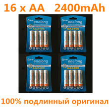 16pcs 100% genuine original enelong 2400mAh NiMH AA rechargeable batteries, high-quality toys, cameras, flashlights and battery