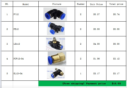 Pneumatic components for a number of,  free shipping.<br><br>Aliexpress