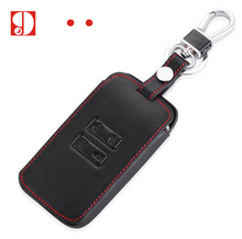 Leather car key For 2016 Kadjar Remote Case Cover Wallet Key Chain For Renault 2016 Kadjar Keychain For Keys With Key Rings(China)