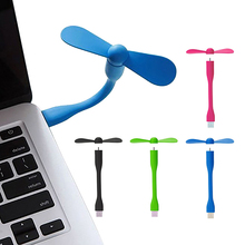 New Style USB Fan Super Mute Small Fan Portable Flexible Mini Fan for Notebook Laptop Computer QJY99(China)
