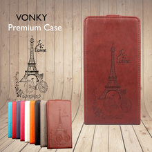 VONKY Brand Leather Phone Case for Oukitel K6000 Plus Retro Flip Cover Smartphone Cases 5.5 Inch Wallet Bags for Celular