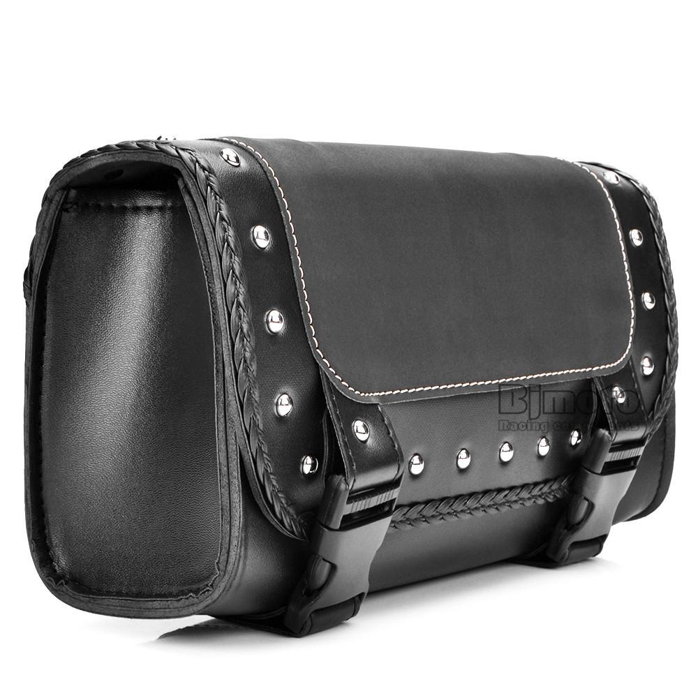 Black Motorcycle Saddlebag Bag PU Leather Luggage Saddle Bags For Harley Sportster Pannier Side Saddle Bag (9)