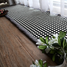 400*2100mm Japanese high-grade cotton rugs mats hand-woven linen kitchen living room alfombras absorbent mats are easy to clean
