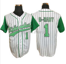 baseball jersey cheap High quality movie Kekambas 1 Jarius 'G-Baby' Evans Embroidery sewing White USA size:S-3XL