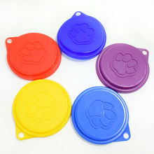 10Pieces/Pet Plastic Canned Cover Claw Print Style Pet Products Dog Bowl Lid Cat Tableware Food Lid Dog Supplies(China)