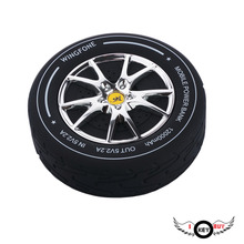 1PC High Quality 5V 3W 4Ohm Tire Creative Fashion Wireless Bluetooth Speaker Mobile PC Car MP3 Radio Black(China)