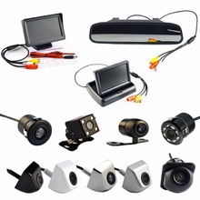 4.3 Inch Auto Parking System HD Car Rearview Mirror Monitor  and 170 degrees Waterproof Car rear view camera