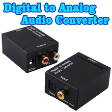 2016 Hot Digital Adaptor Optic Coaxial Toslink Signal to Analog Audio Converter Adapter Wholesale Store