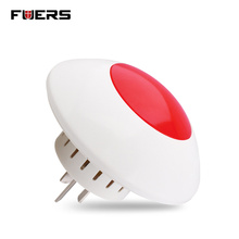Fuers Alarm Flash Horn Wireless Flashing Siren hot product Red Light Strobe Siren 433 MHz suit for Alarm System  Wireless Siren