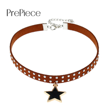 Prepiece Trendy Element Necklace Star Zircon Multi-Layered Adjustable Choker Necklace For Women Fashion Jewelry Collier PN0969(China)