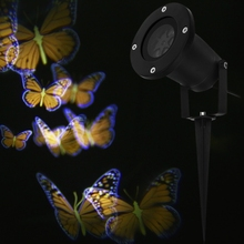 2016 New Arrival 100 - 240V 4W LED Waterproof Colorful Butterfly Light Outdoor Led Garden Lights Festival Christmas Lighting(China)