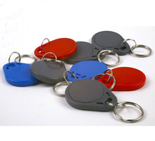 100pcs lot Proximity 125Khz keyfobs rfid T5577 Rewritable keytag,with Blue color,Can Optional gray/red/black or yellow