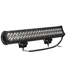 1 Pieces 126W 42 x 3W Car LED Light Bar as Work light Flood Light Spot Light for 12 24V Vehicle Boating Hunting Fishing