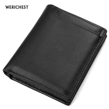 Buy WERICHEST Genuine Leather Men Wallet Small Men Walet High Male Portomonee Short Coin Purse Brand Purse Carteira Rfid for $16.97 in AliExpress store