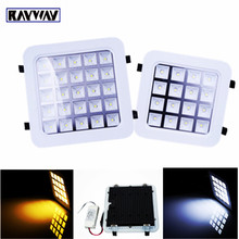 RAYWAY 4W/9W/16W/25W LED Grille Lamp Warm white/white led Panel Light Square LED Ceiling Wall Lighting Recessed Downlight(China)
